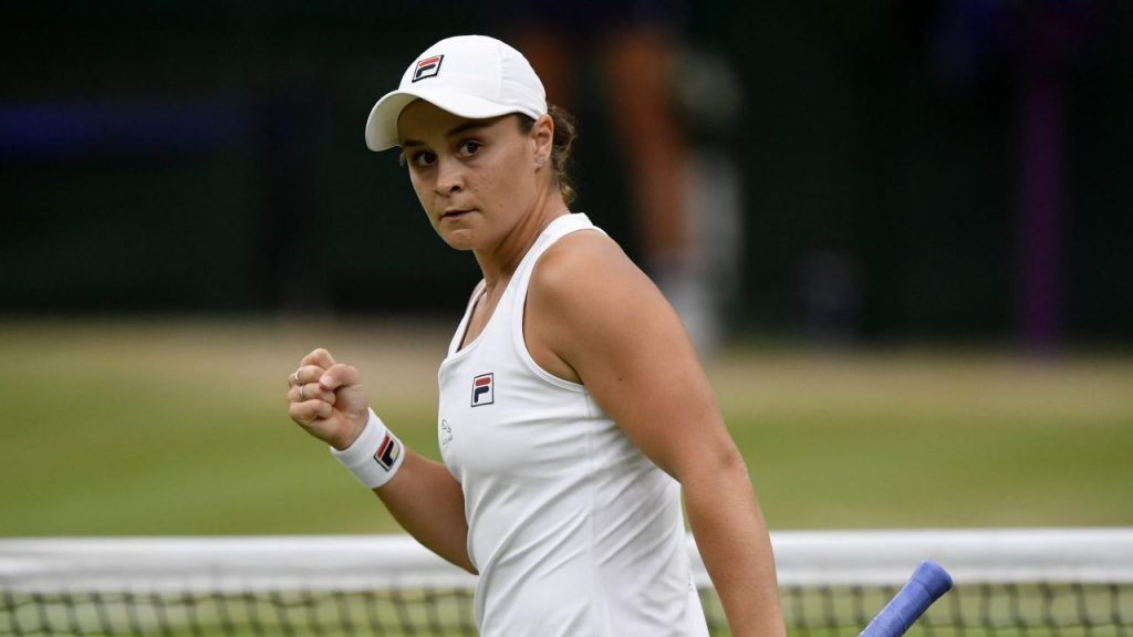 Barty jugará por primera vez por el pase a la Final de Wimbledon. (Foto: Reuters).