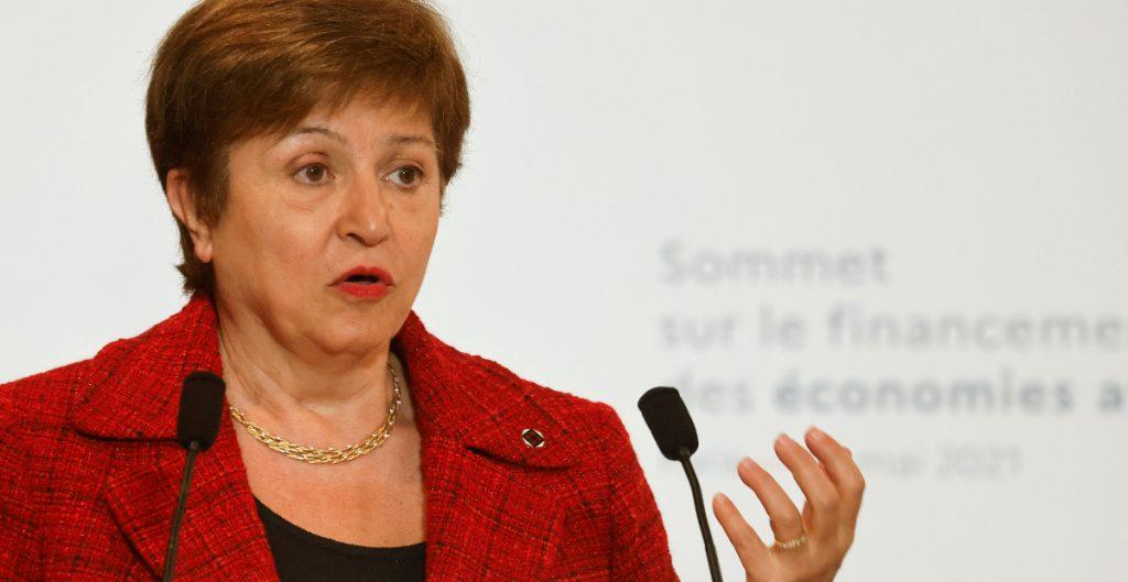 Presidenta del FMI prevé riesgo de inflación sostenida en Estados Unidos