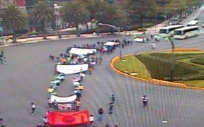 Normalistas marchan en CDMX; piden libertad incondicional de estudiantes