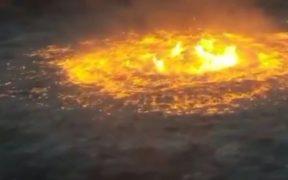 Dan seis meses a Pemex para presentar informe sobre causas del incendio en ducto submarino en Campeche