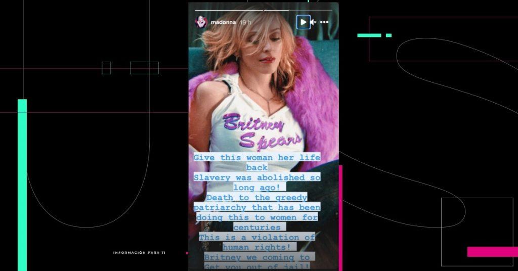 """La tutela legal de Britney Spears """"viola los derechos humanos"""", dice Madonna"""