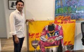 'Checo' prometió darle un lugar muy especial a la pintura. (Captura de video).