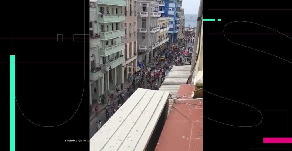 Miles protestan en Cuba contra el Gobierno; Díaz-Canel ordena represión