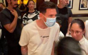 Messi, captado en el Café Ragazzi de Miami. (Foto: @montanertwitter).