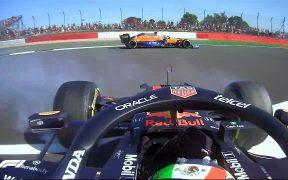 El auto de 'Checo' hizo un trompo y tuvo que abandonar la calificación sprint. (Foto: F1).