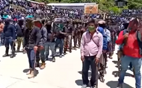 """Indígenas respaldan a """"Los Machetes"""", nuevo grupo de autodefensas en Pantelhó, Chiapas"""