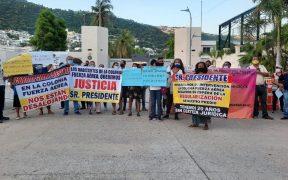 Protestan contra AMLO en Guerrero