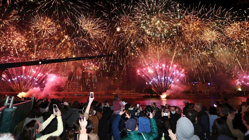 Los ciudadanos de Brisbane celebran la obtención de la sede olímpica de 2032. (Foto: EFE).