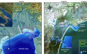 Descubren los restos de una calzada romana bajo las aguas de Venecia