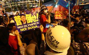 Japoneses protestan contra la realización de los Juegos Olímpicos