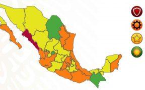 CDMX, Edomex y otros 8 estados retroceden a semáforo naranja; Sinaloa pasa a rojo