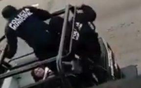 """Actuaron pésimo"", dice director de la policía sobre elementos que patean a mujer en Tabasco"