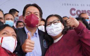 INE no castiga a Mario Delgado y Citlalli Hernández por manifestaciones sobre consulta popular