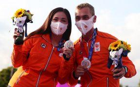 Gabriela Bayardo obtuvo la medalla de plata en la misma prueba donde México ganó el bronce. (Foto: EFE).