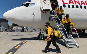 101 bomberos mexicanos participan en el combate de incendios en Canadá