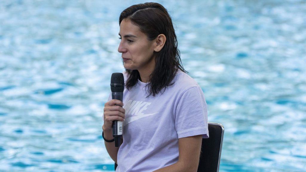Paola Espinosa borró su polémico comentario, aunque aseguró que se malinterpretó. (Foto: Mexsport).