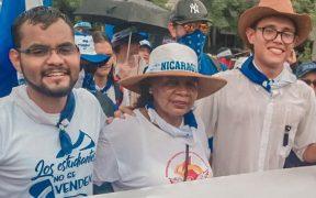 Opositora nicaragüense denuncia la desaparición de su hijo, luego de que ordenaran su detención