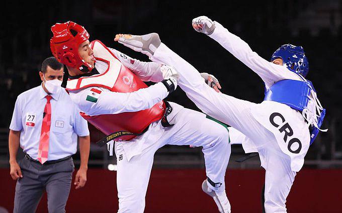 El mexicano Carlos Sansores cae en los Octavos de Final de Taekwondo;  aspira a tener un repechaje