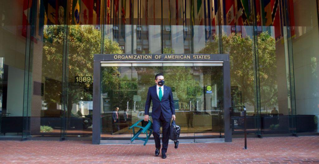 Aureoles presenta queja ante la OEA por inacción del Estado mexicano ante la violencia generada por el crimen organizado