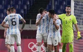 Argentina empató con España y se despidió de Tokio 2020. (Foto: AP).