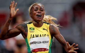 Elaine Thompson rompió el récord olímpico de los 100 metros. (Foto: EFE).