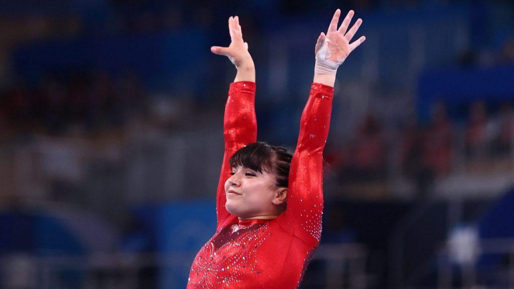 Alexa Moreno obtuvo 14.766 tras sus dos saltos. (Foto: Reuters).