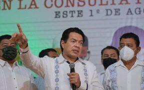 """Tas ganar el """"Sí"""" en la consulta, Morena anuncia agenda de Justicia Transicional contra violaciones de DH"""