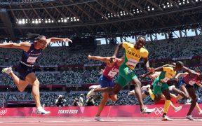 Parchment superó al gran favorito en los 110 metros con vallas. (Foto: Reuters).