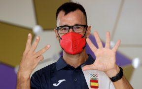 García Bragado se despide de los Juegos Olímpicos a sus 51 años. (Foto: EFE).