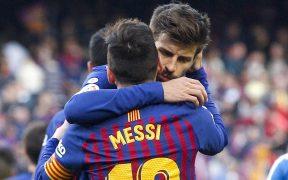 Piqué dedicó un sentido mensaje de despedida a Messi. (Foto: EFE).