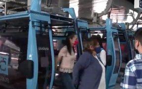 Claudia Sheinbaum inaugura la Línea 2 del Cablebús en Iztapalapa