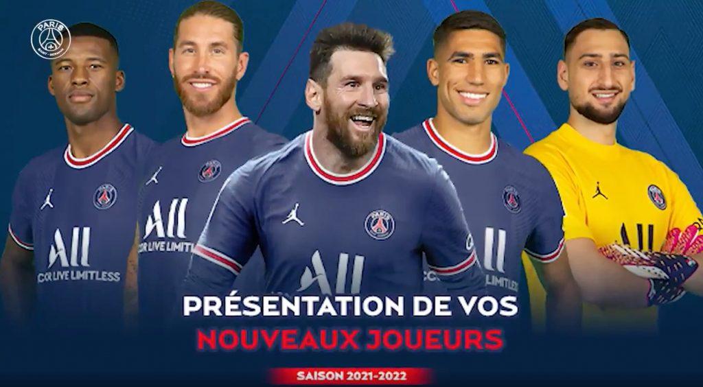 El PSG presentará a sus cinco estrellas juntas por primera vez ante su afición. (Captura de video).