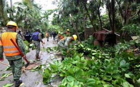 """Reportan afectaciones en Yucatán y más de 55 mil personas sin luz por el paso de """"Grace"""""""