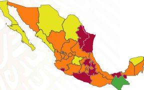 Cuatro estados aumentan nivel de riesgo y pasarán a semáforo rojo a partir de la próxima semana