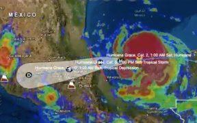 """Emiten alerta roja en el norte y centro de Veracruz por el huracán """"Grace"""""""
