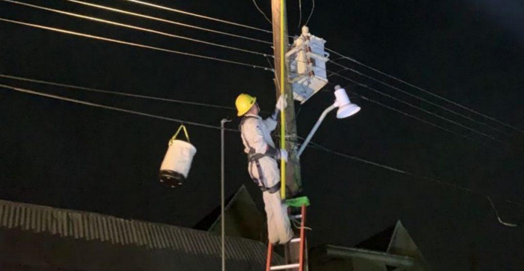 """CFE restablece al 46% el suministro eléctrico a estados afectados tras paso de """"Grace"""""""