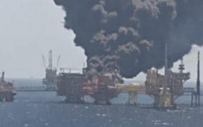 Incendio de plataforma marina Ku-Alfa en Campeche deja cinco heridos, informa Pemex
