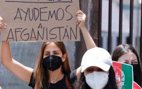 Protestan en cancillería mexicana por conflicto en Afganistán; piden acelerar trámites de refugio de mujeres y niñas