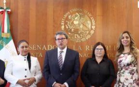Monreal confirma que Morena propondrá a Sánchez Cordero para presidir el Senado