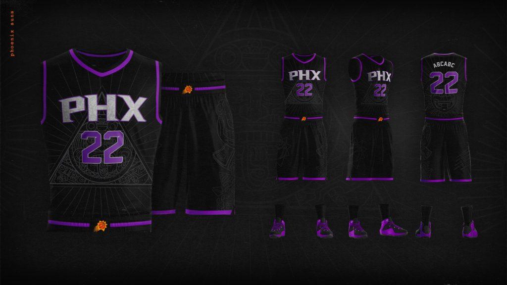 Los uniformes tienen varios simbolismos aztecas. (Foto: @Suns).