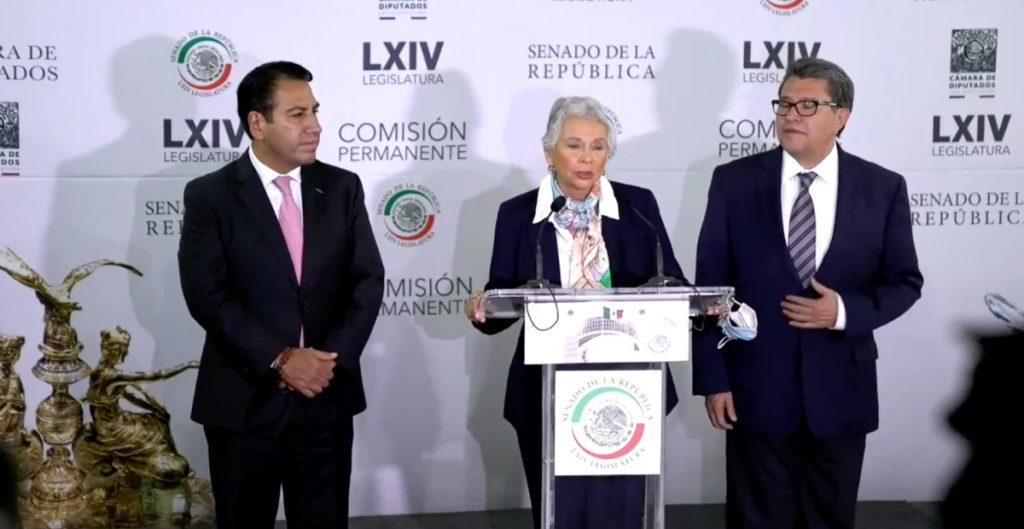"""Morena perfila a Sánchez Cordero a la presidencia del Senado sin elección interna; """"será un reto enorme"""", afirma la legisladora"""