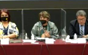 """""""No es posible querer tenerlo como rehén"""", dice Delfina Gómez a maestros de la CNTE que retuvieron a AMLO"""