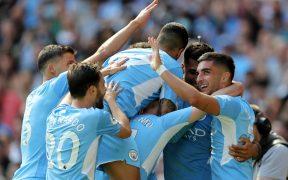 El City celebra la goleada sobre el Arsenal. (Foto: Reuters).