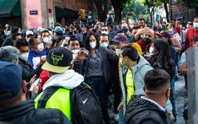SSC identifica y suspende a policías que supuestamente agredieron a Lía Limón en Congreso de CDMX
