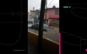 Lluvias provocan inundaciones en el Edomex; Tlalnepantla y Ecatepec, las zonas más afectadas