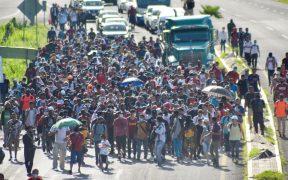 Migrantes alistan nueva caravana desde Tapachula hasta la CDMX