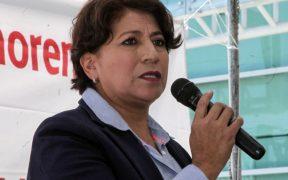 Oposición pide la renuncia de Delfina Gómez de la SEP, tras multa del INE por retención de salarios en Texcoco