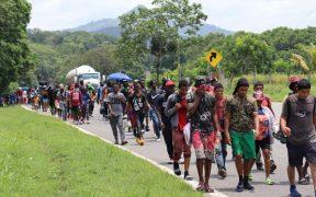 Agentes de migración y Guardia Nacional frenan la cuarta caravana migrante en Chiapas