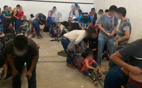 Aseguran a 162 migrantes que estaban en una bodega en Tamaulipas