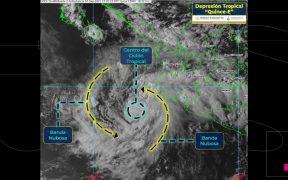 Se forma depresión tropical 15-E en costas de Colima y Jalisco; dejará fuertes lluvias en cuatro estados